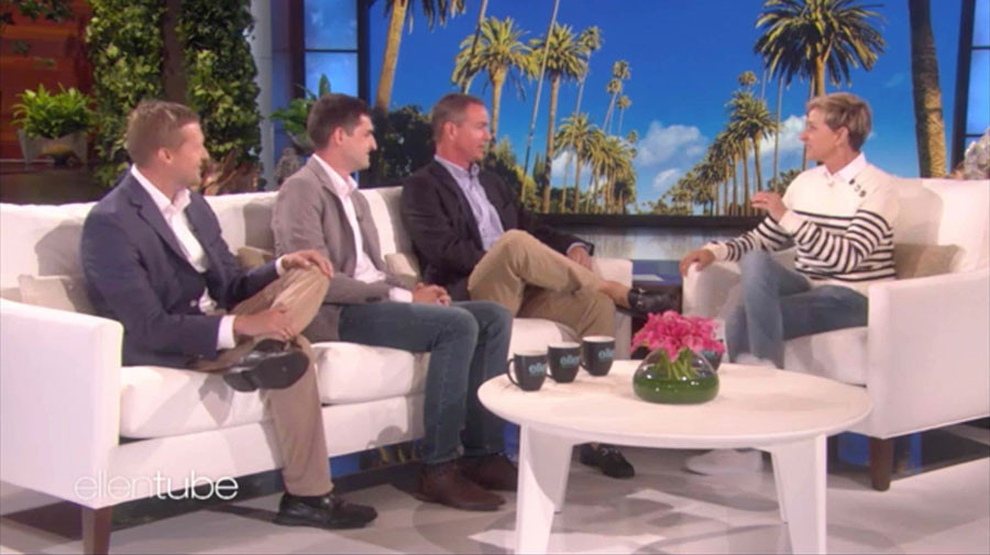 Dr. McGirt and Dean on The Ellen Degneres Show